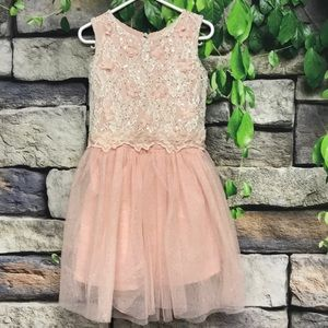 ✨Toddler Floral Lace Glitter Sequins Tulle Dress✨